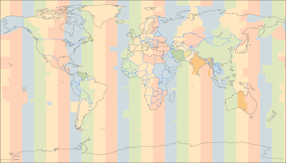 Patterson Cylindrical Projection on map of north america time zone, map of world time zone, map of africa time zone, united states world map time zone, map of europe time zone, world map outline time zone,