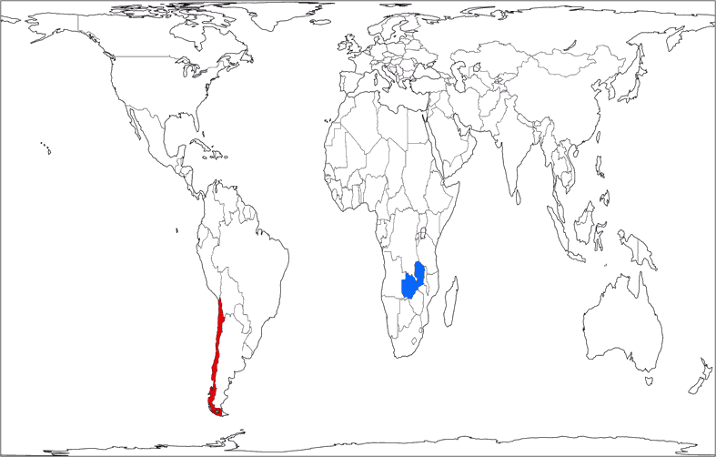 The Wagner Projections Part Usage - Zambia time zone map