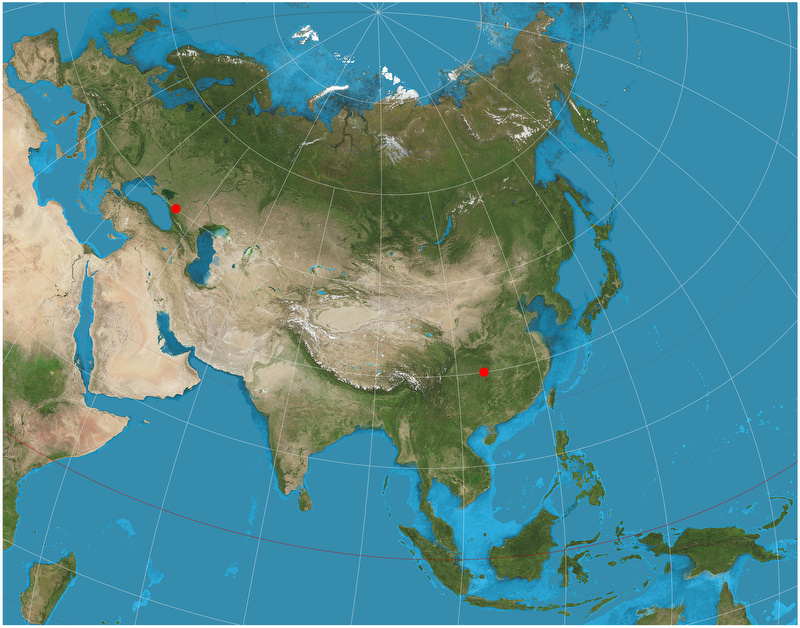 Metric Properties Of Map Projections - Equidistant point calculator us map