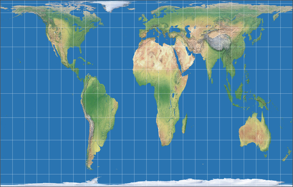 License Info Gall Peters Projection