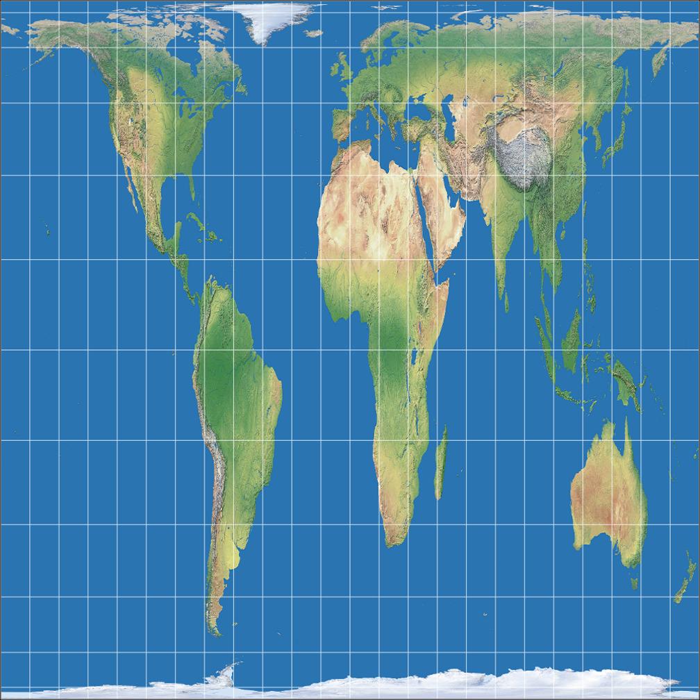 Square Earth Map.License Info Tobler S World In A Square