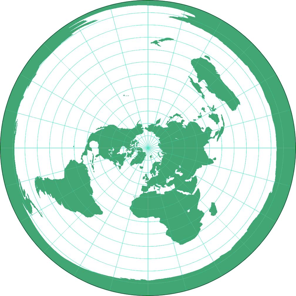 Azimuthal Equidistant Projection Polar Aspect Compare