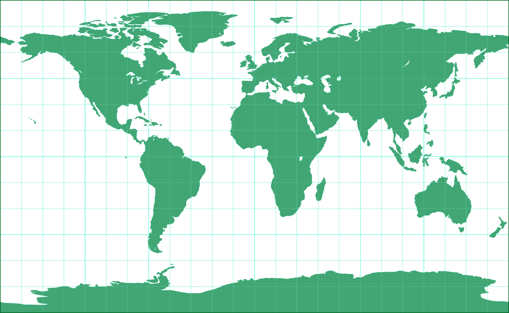 Equirectangular (35.6°) Silhouette Map