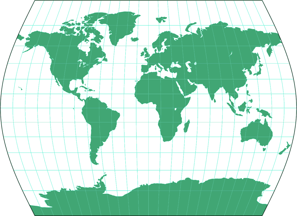Times Silhouette Map