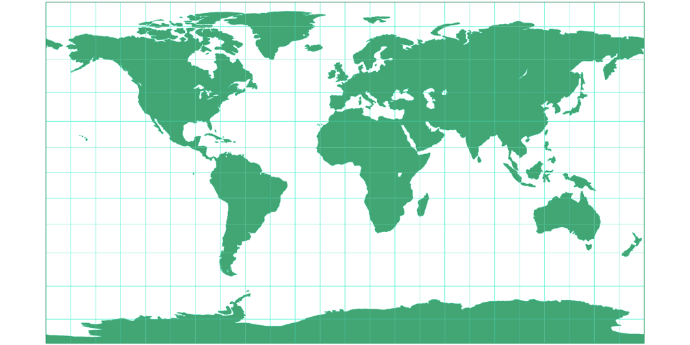 Patterson Cylindrical Silhouette Map
