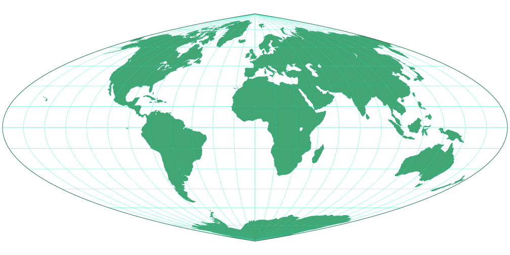 Quartic Authalic Silhouette Map