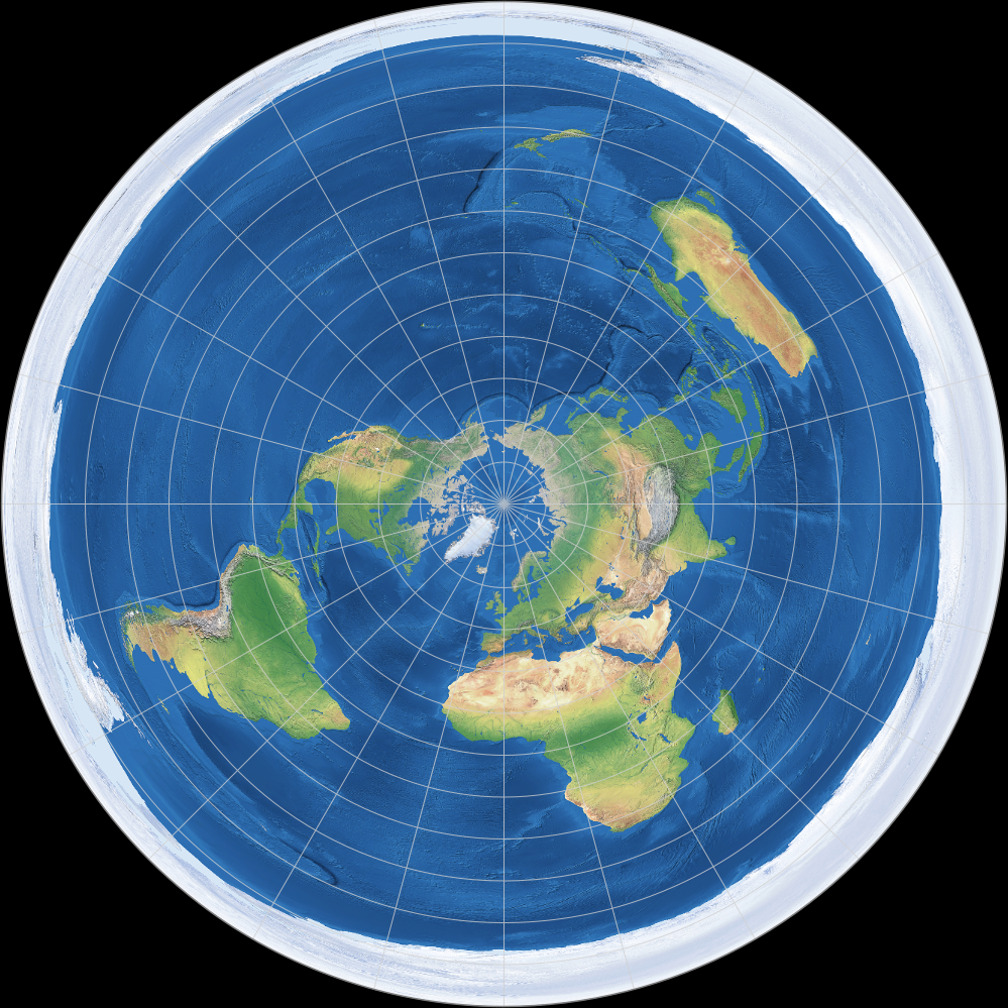 license info  azimuthal equidistant projection  polar aspect