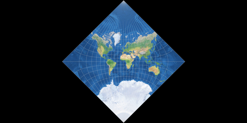 Adams World in a Square II Projection