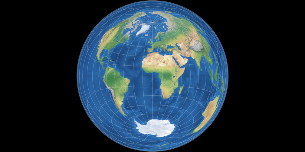 Azimuthal equal-area (equat.) Projection