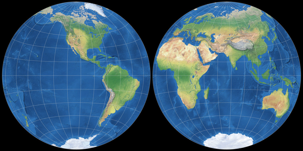 Azimuthal equal-area Projection
