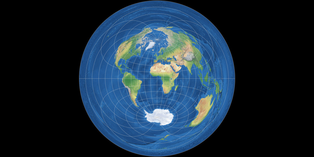 Azimuthal Equidistant Projection (equatorial aspect)