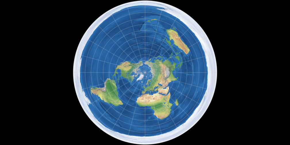 Azimuthal Equidistant Projection (polar aspect)