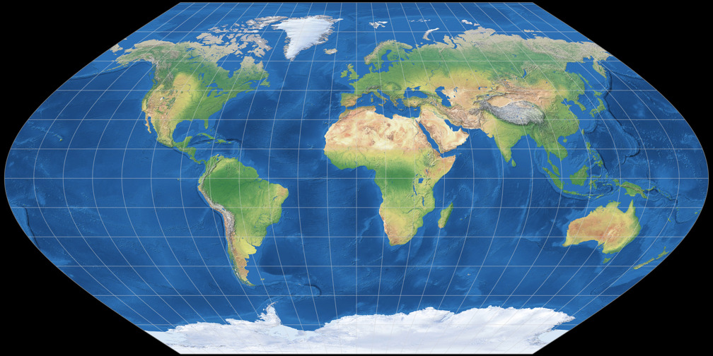Eckert V vs. Mercator: Compare Map Projections
