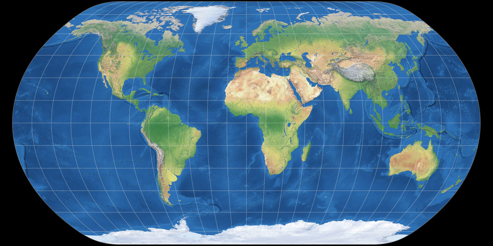 Natural Earth vs Robinson Compare Map Projections