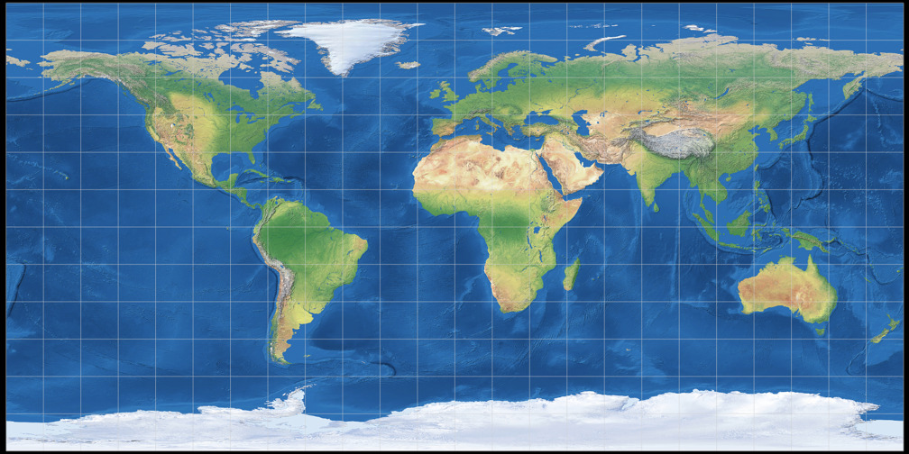 Equirectangular (0°) Projection