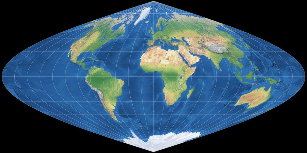 Eckert Greifendorff vs. Sinusoidal: Compare Map Projections