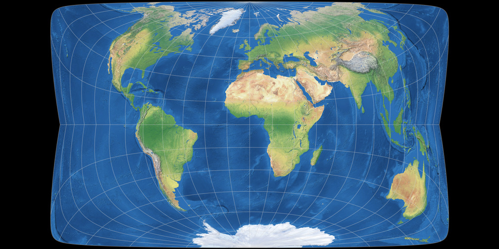 Gall-Peters vs. Strebe-Hammer 29°S: Compare Map Projections on makeda verses the peters map map, peters projection world map, waterman butterfly map, gall peters projection ma, peterson map, peter gall political map, large flat world map, dymaxion map,