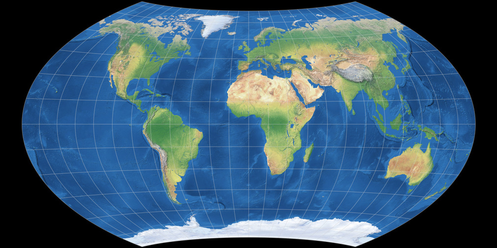 Map projections viewing options flat oceans south up wagner 8 gumiabroncs Image collections