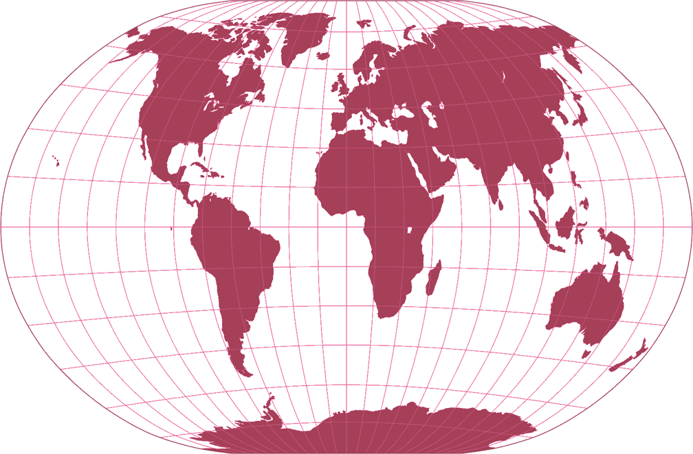 A4 Projection Silhouette Map