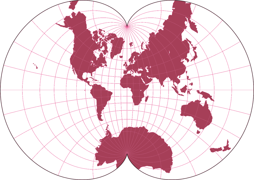 August Epicycloidal Silhouette Map