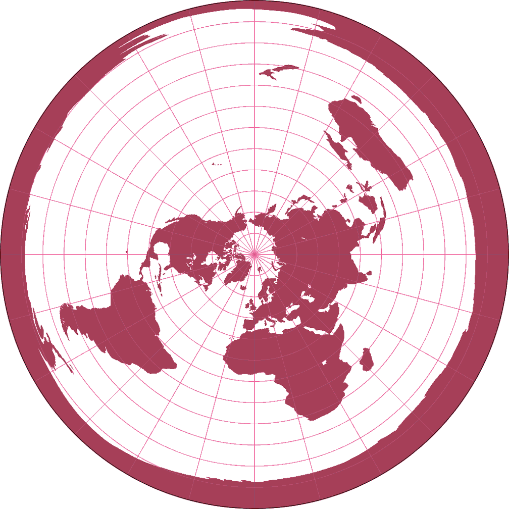 azimuthal equidistant projection The webs premier site for customized ham radio maps (azimuthal equidistant projection maps) and great circle bearing/distant charts for the radio amateur and short wave radio enthusiast.