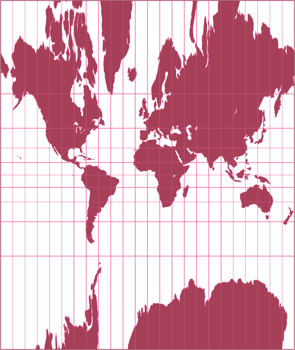 Central Cylindrical Silhouette Map