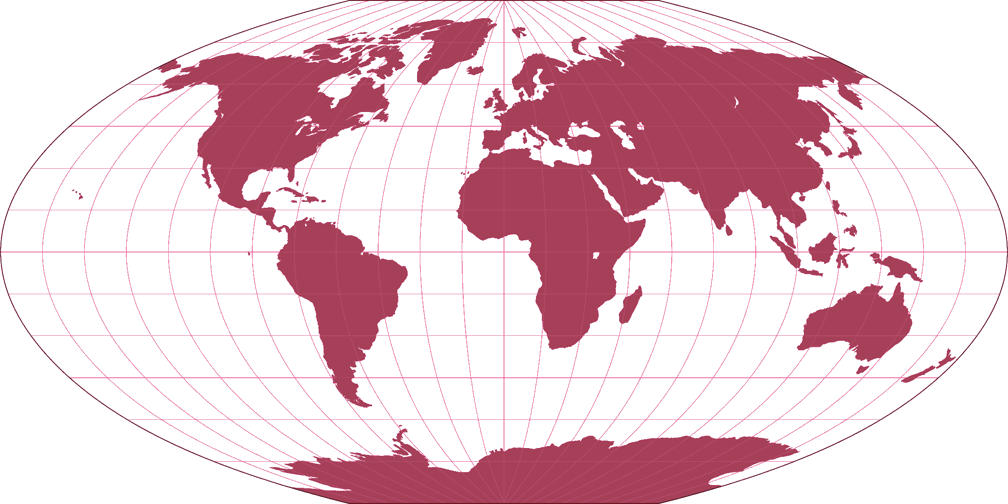 Denoyer Semi-Elliptical Silhouette Map