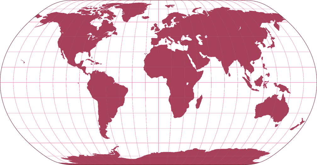 Natural Earth Silhouette Map