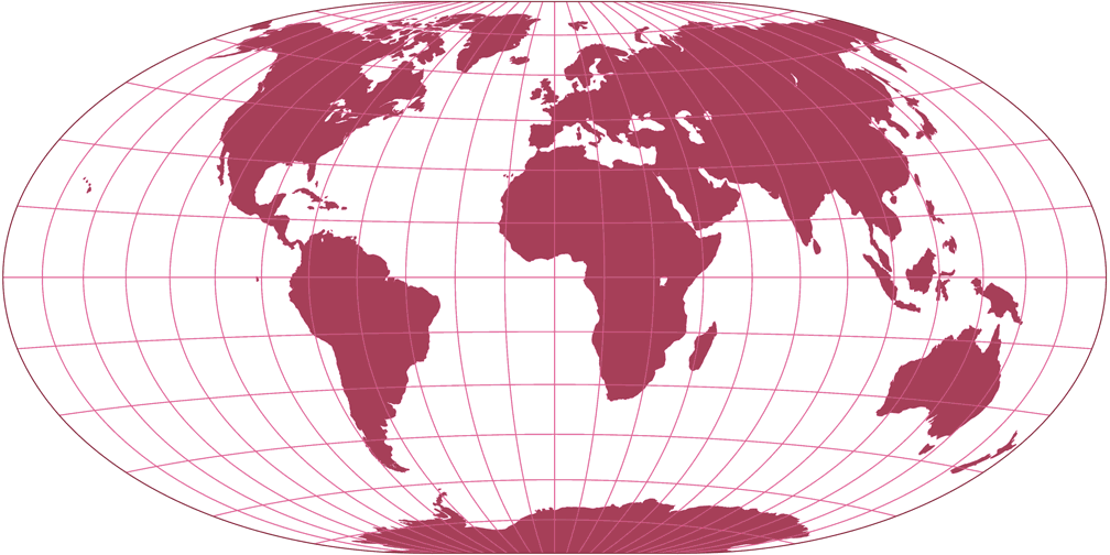 Hammer-Cylindrical Silhouette Map