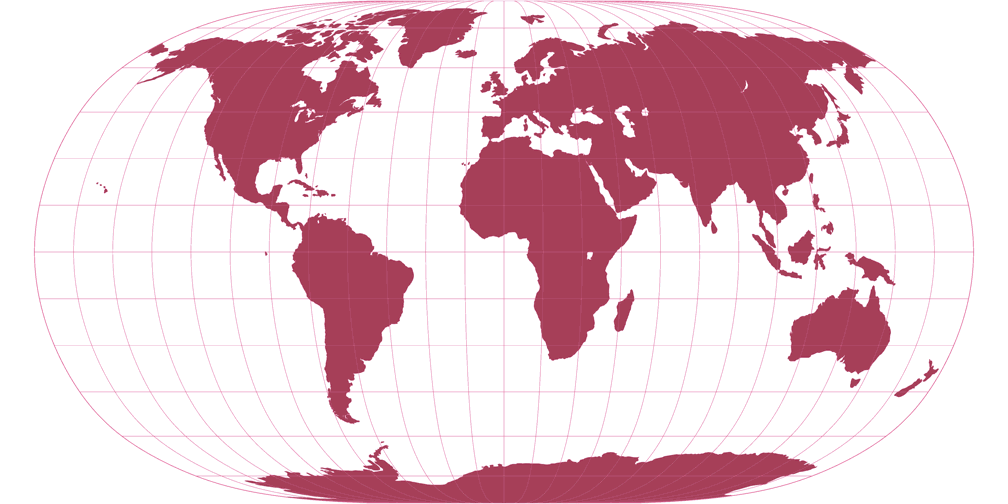 Natural Earth II Silhouette Map